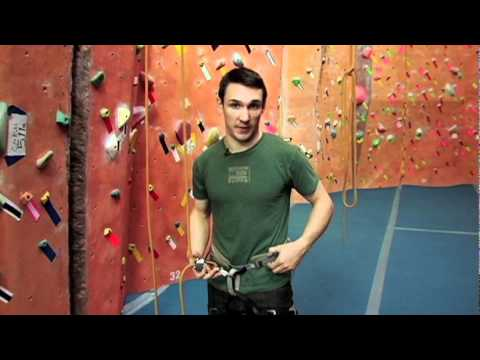 Rock Climbing for Beginners- Video 4- Setting Up As The Belayer