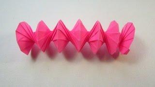 Как сделать оригами пружину (Jeff Beynon)