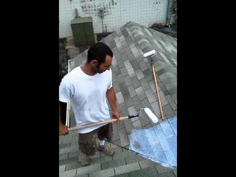 How To Seal Amp Waterproof Roof With A Clear Elastomeric