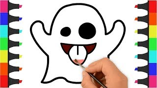 Ghost Coloring Pages | Coloring Ghosts for Kids | Coloring Video for Kids | Draw and Color Ghosts