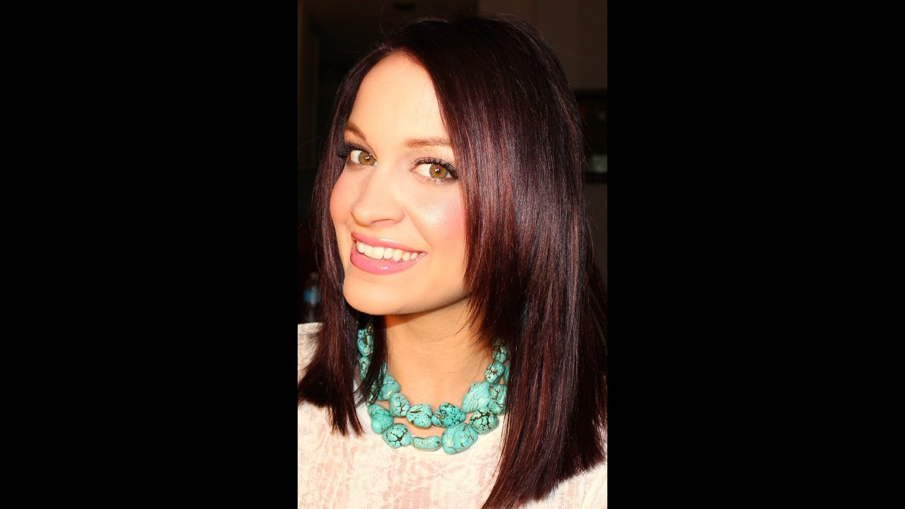 How To Color Dye Your Hair Burgundy At Home YouTube