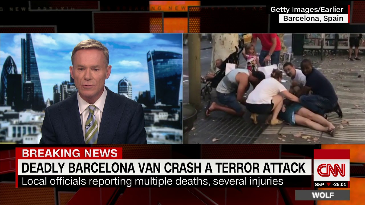 Update: At least 1 confirmed dead after van plows into crowd in Barcelona