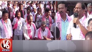 TS Chief Whip Koppula Eshwar and RTC Chairman Somarapu Participates In Singareni Election Campaign |V6