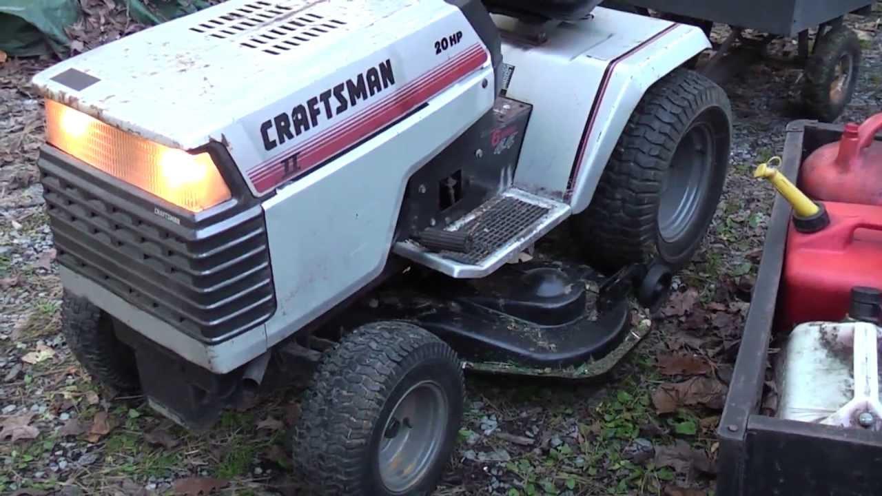1989 Craftsman Gt 20 Garden Tractor 6 Speed 44 Quot Onan