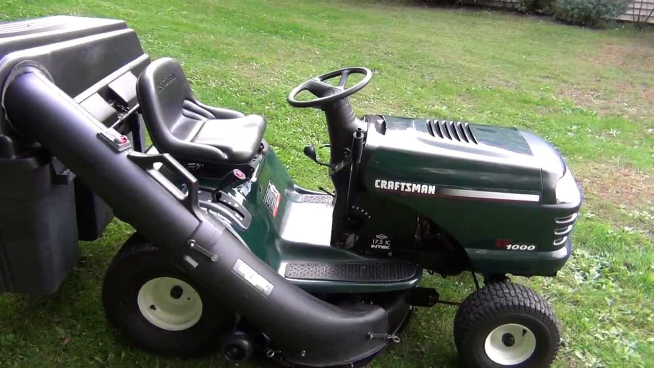 Craftsman Lt1000 Tractor With 3 Bin Bagger For Sale On