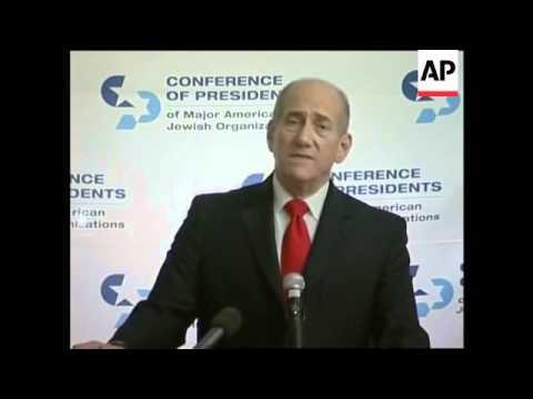Israeli PM Ehud Olmert meets UN Sec Gen, meets Jewish groups