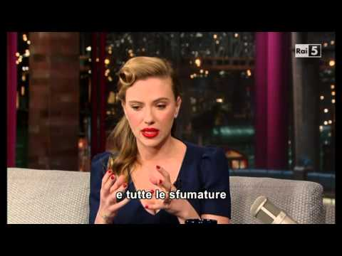 Scarlett Johansson al David Letterman 08-01-2014 (sub ita) Part 1