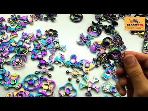 Rainbow Fidget Spinner Gadget Cube Focus &  ADHD EDC Titanium Alloy Stress Relief Toy