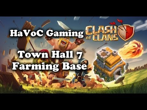 Clash Of Clans - Epic Town Hall 7 Farming Base Speed Build
