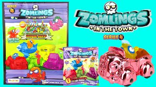 ZOMLINGS SERIES 4 BLIND BAGS TOYS Rare Metal Zom-Mobile Starter Pack Kids Video