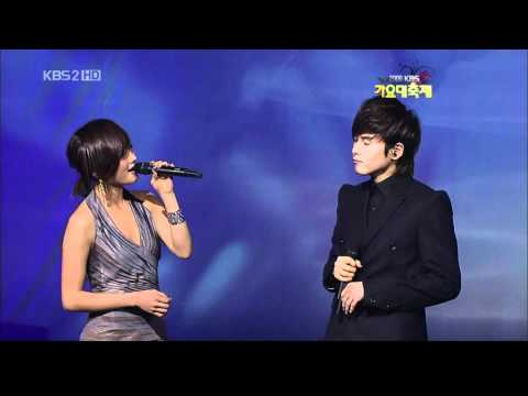 Super Junior (Ryeowook)&KARA (Nicole) - Ben on KBS2 Gayo Daejun 30 December 2009
