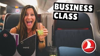 20+ Hours in Turkish Airlines BUSINESS CLASS + Incredible Istanbul Business Lounge