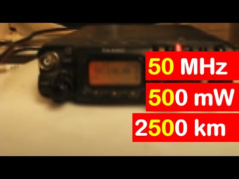 2500km 50 MHz 500mW - QRP QSO with VK6ADI Part 1