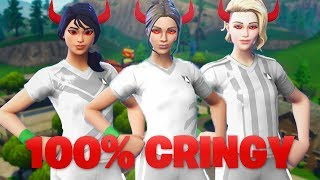 I Tried Out For The Most TOXIC *FEMALE SOCCER SKIN* Fortnite Clan And This Happened...