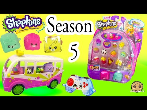Season 5 Shopkins 12 Pack with Glow In The Dark Surprise Blind Bag + Charms - Video Cookieswirlc thumbnail