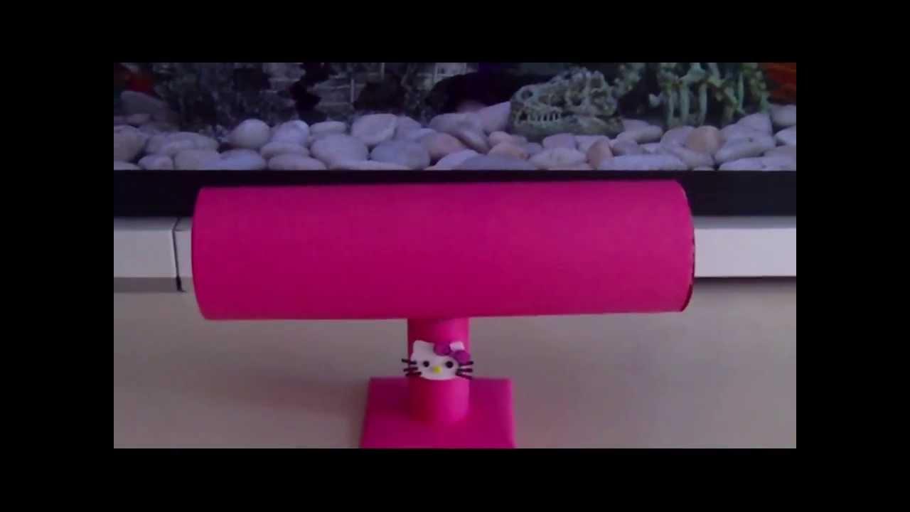 Organizador hello kitty de diademas reciclado con botella - Organizador de papeles ...