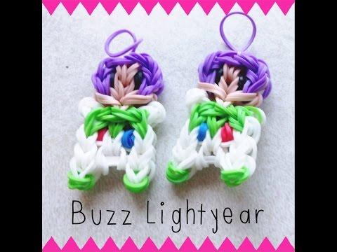 NEW Buzz Lightyear Rainbow Loom Charm/Figurine Tutorial [Part 1]