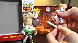 Toy Story of TERROR! Mattel Video Toy Review of Combat Carl, Glow Buzz Lightyear & Jessie figures