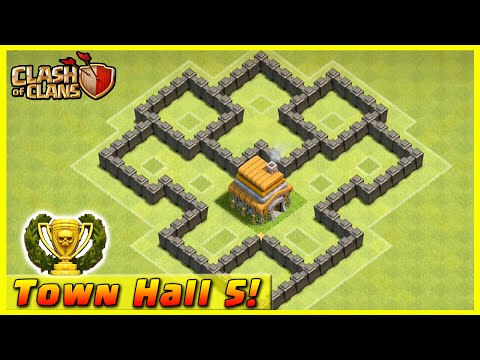 Clash of Clans - DEFENSE STRATEGY - Townhall Level 5 Trophy Base Layout  (TH5 Defensive Strategies)