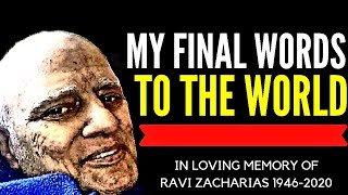 THE SPEECH THAT LEFT THE AUDIENCE IN TEARS | TRIBUTE TO RAVI ZACHARIAS (1946 - 2020)
