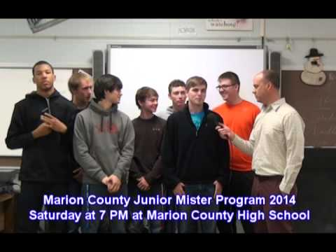 Junior Mister at Marion County High School is Saturday March 22nd at 7 PM