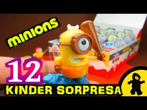 Huevitos Kinder Sorpresa Minions en Español (12 huevos)