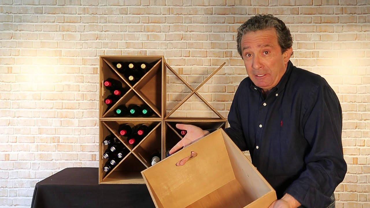 Botellero de madera mod cari ena youtube - Botellero de madera para vino ...