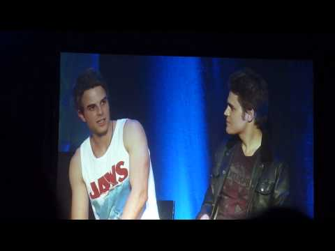 Paul Wesley & Nate Buzolic at BloodyNightCon in Brussels