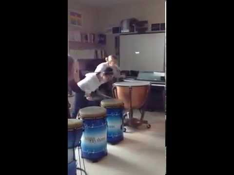 CYS Shakespeare Immersion Week at British School of Chicago: Year 7 Drumming part 2