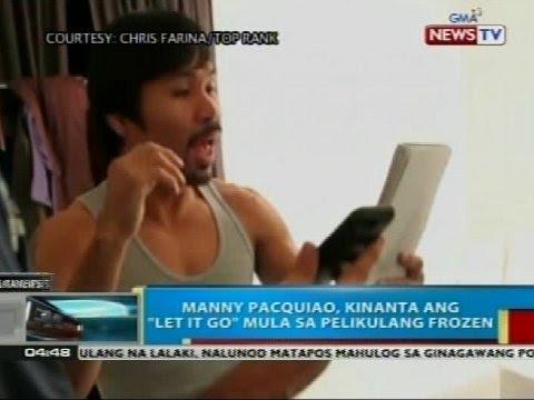 BP: Manny Pacquiao, bumirit sa kantang 'Let It Go'