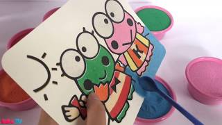 Sand Art for Children   Frog Sand Painting   How to Make Sand Painting