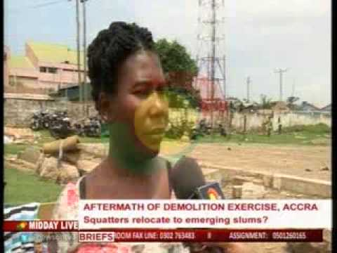 MiddayLive - Aftermath of demolition exercise in accra  - 29/7/2015