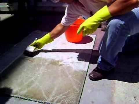 Aplicacion de acido muriatico estabilizacion de oh youtube - Como quitar el sarro del piso ceramico ...