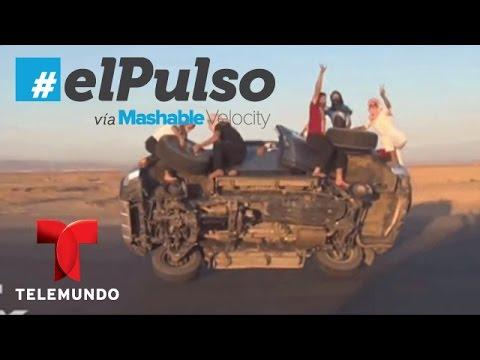 Los más temerarios en YouTube: Cambiando ruedas en movimiento, carro con dos frentes (VIDEO)