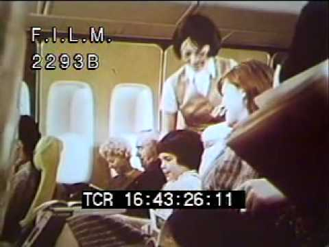 Vintage Flight Attendants (stock footage / archival footage)