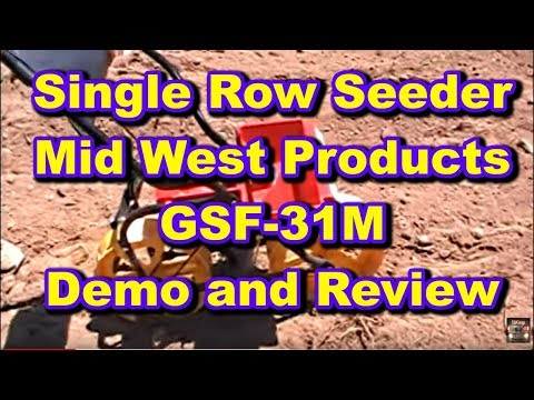 Planting The Food Plot With A Single Row Hand Seeder By