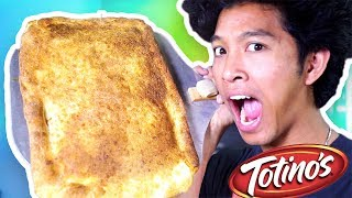 Giant Pizza Roll!! HOW TO MAKE AT HOME!