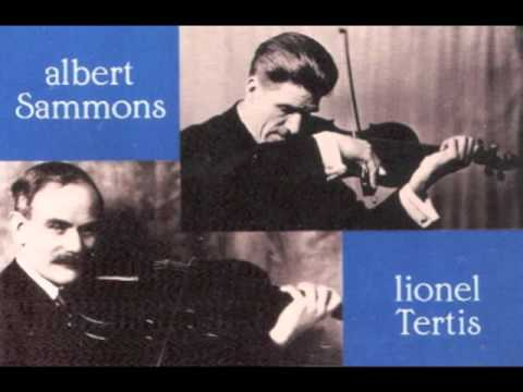 Albert Sammons & Lionel Tertis - Handel Halvorsen: Passacaglia for Violin & Viola