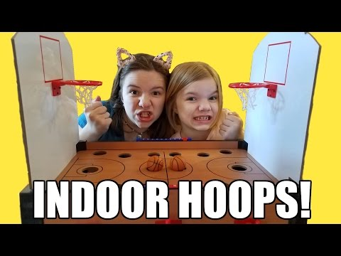Indoor Basketball challenge game Toy Review