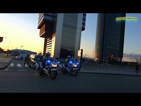Motorcade (vip escort) bus of IOC in Madrid. Escolta del autobus del COI en Madrid