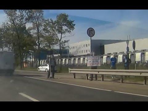 Акция ОПР против повышения цен на бензин 03.06.2018, Московское шоссе Санкт-Петербург
