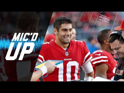 "Jimmy Garoppolo Mic'd Up vs. Titans ""Come On Robbie, One Time"" 