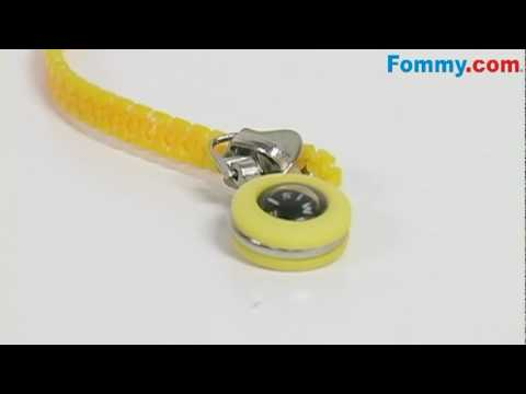 Amzer� Zipper Neck Lanyard with Compass-Yellow