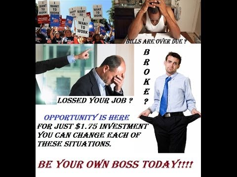 Be your own boss opportunity, with only $1.75 investment.