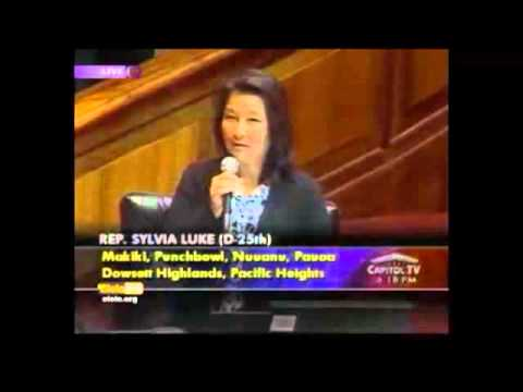 Rep Sylvia Luke Supports Same Sex Marriage video