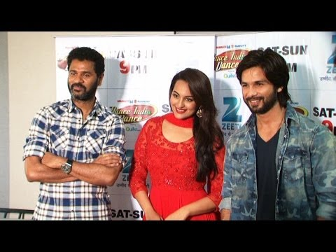 Shahid KapoorSonakshi Sinha & Prabhudeva On Set Of Dance India...