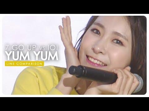 7 Go Up Vs IOI • Yum Yum | Line Comparison — Request #11