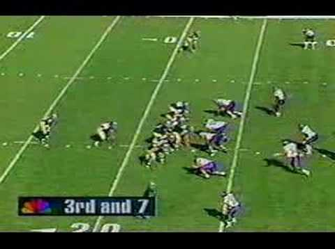 The Northwestern Wildcats defeat Notre Dame to start the 1995 season.