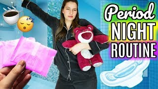 My Period Night Routine! Hacks all girls need to know!