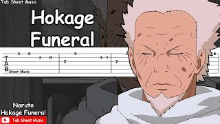 Naruto OST - Hokage Funeral (Grief and Sorrow) Guitar Tutorial